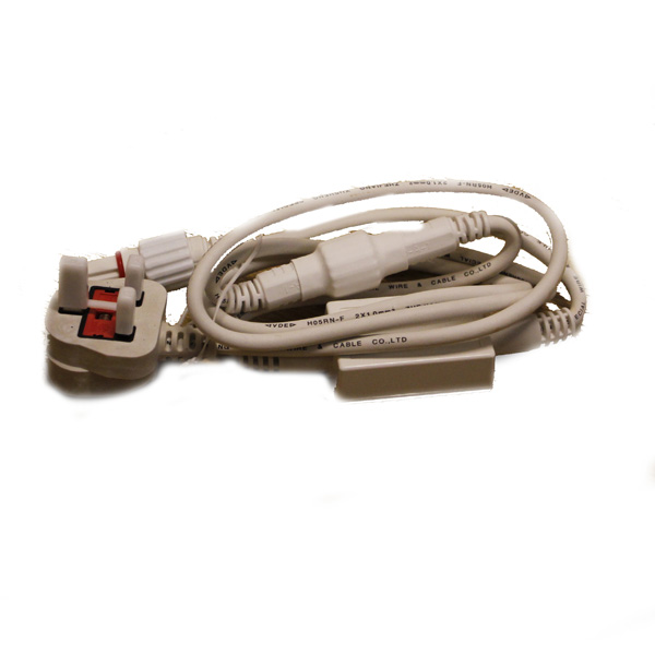 Idolight 1.5m White Cable UK Plug With Rectifier
