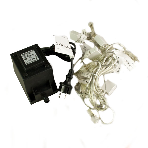 Festilight Tranformer Kit 150W + Black 3m Extension and 2m Connecter with 5 exit points