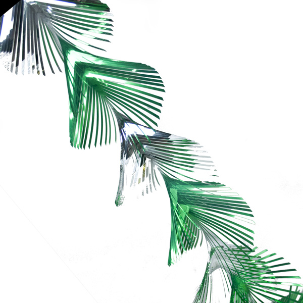 Twist Foil Garland - 40m X 12.5cm - Silver / Green