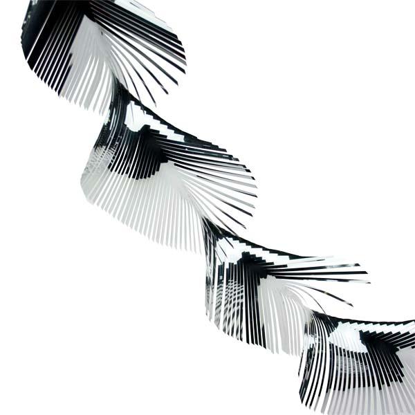 Twist Foil Garland - 40m X 12.5cm - Silver