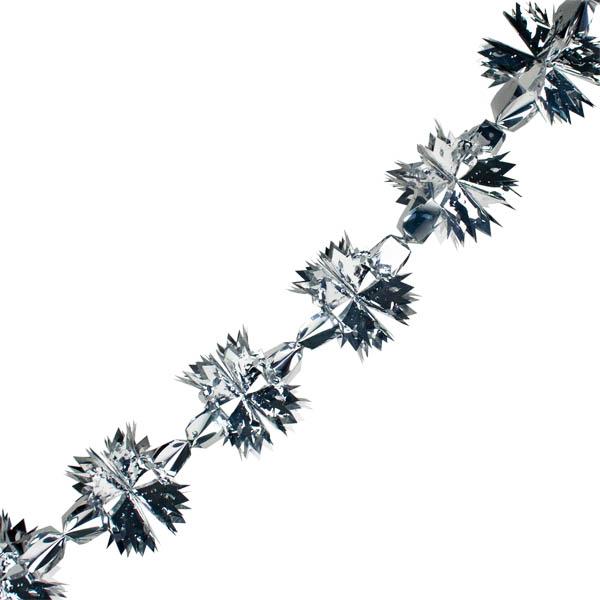 Foil 300cm Spike Garland - Silver