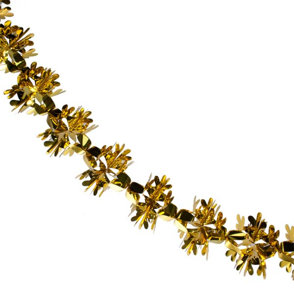 Foil 270cm Flower Burst Garland - Gold