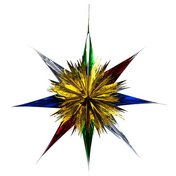 Foil 60cm Starburst - Multicoloured