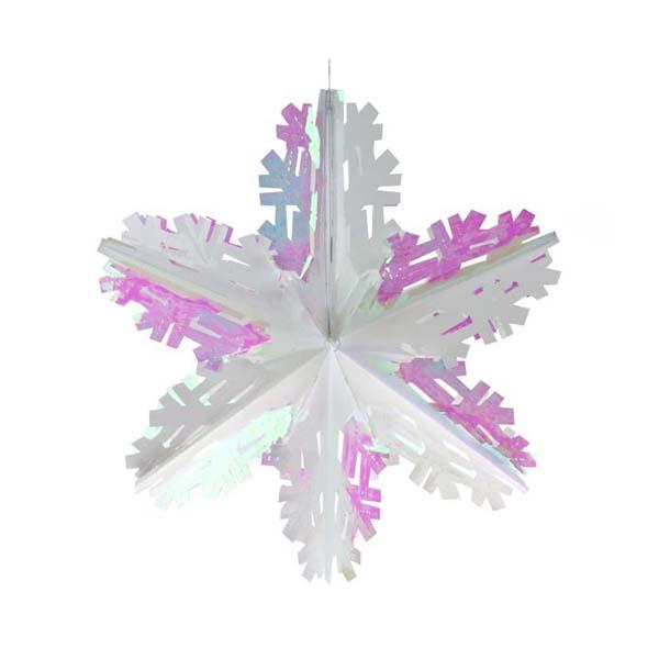 White Iridescent Foil Starflake - 40cm