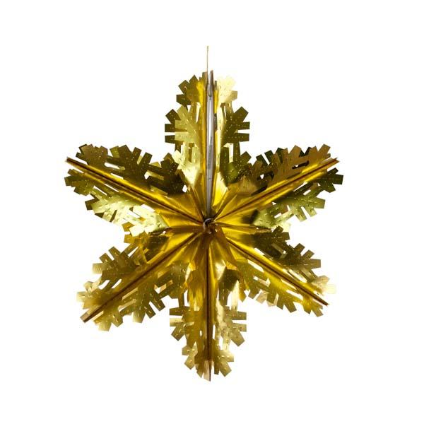 Matt Gold Foil Starflake - 40cm