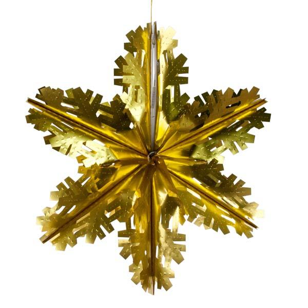 Matt Gold Foil Starflake - 60cm