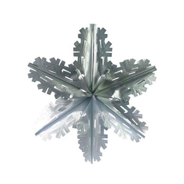 Matt Silver Foil Starflake - 40cm