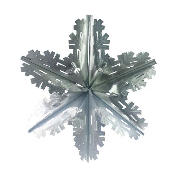 Matt Silver Foil Starflake - 60cm
