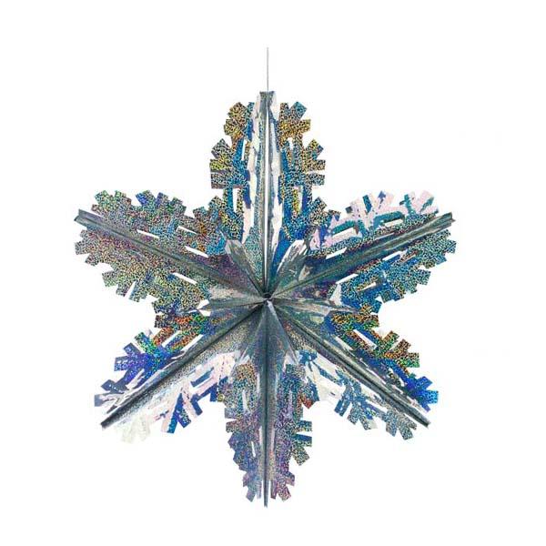 Silver Laser Foil Starflake - 40cm