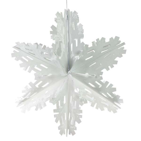 White Foil Starflake - 60cm