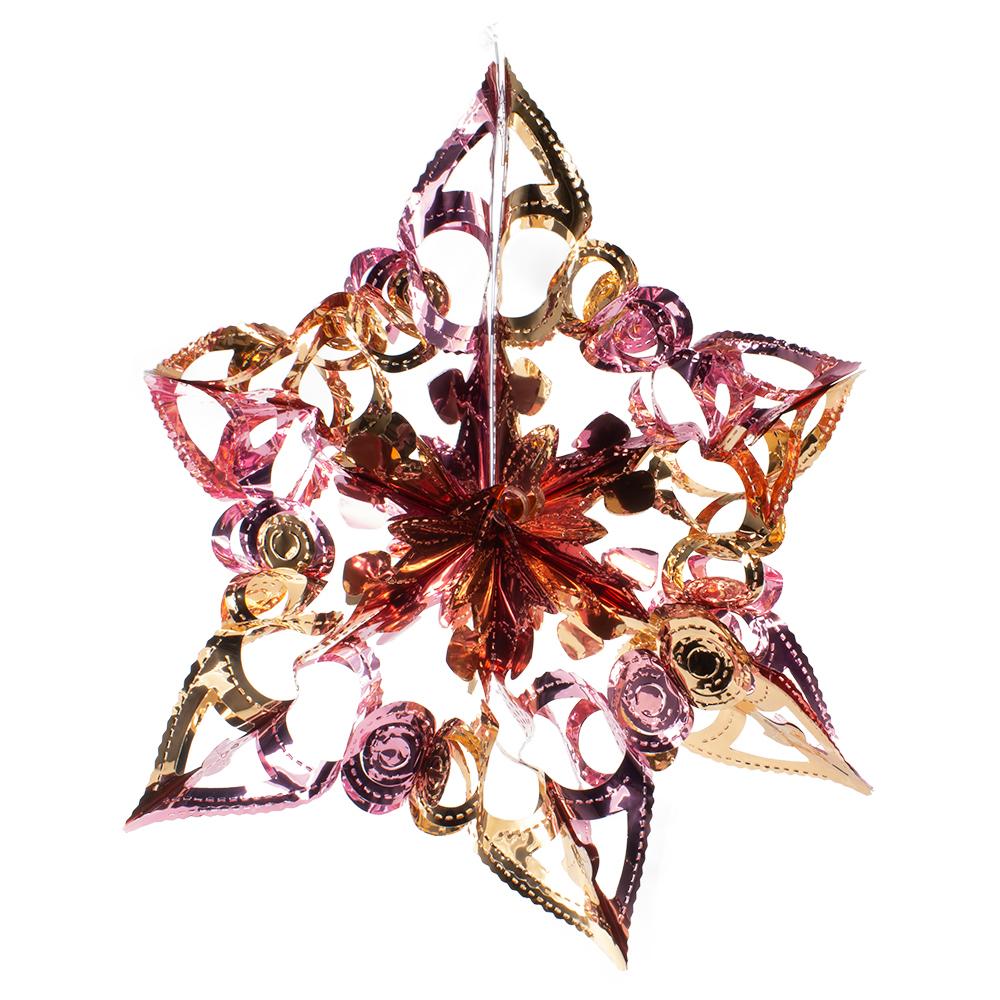Rose Gold & Pink Foil Snowburst Decoration - 40cm