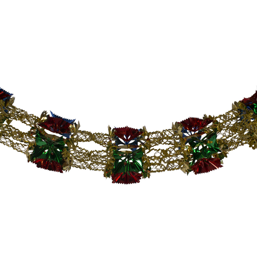 Multi Coloured Foil 8 Section Garland - 2.7m X 33cm