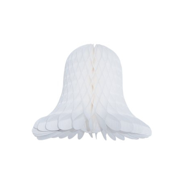 White Flame Resistant Honeycomb Paper Bell - 40cm