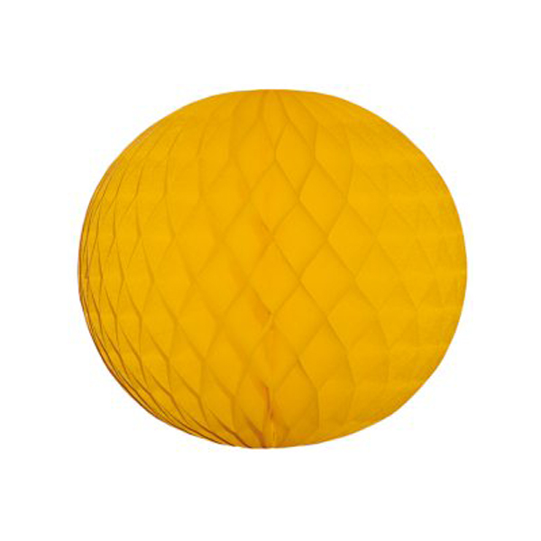 Gold Flame Resistant Honeycomb Paper Ball Hanging Decoration - 40cm