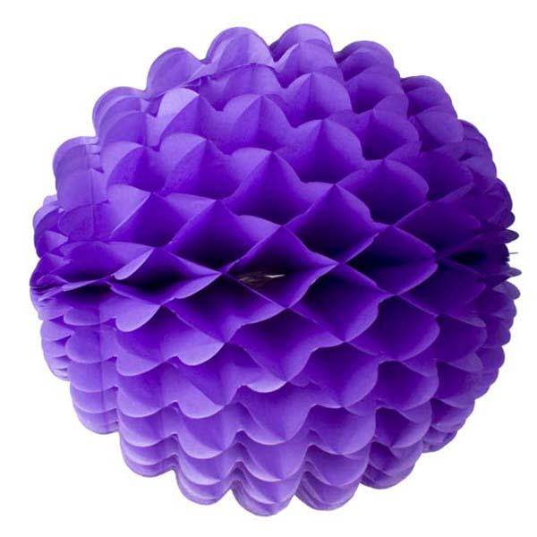 Purple Wavy Paper Ball - 40cm