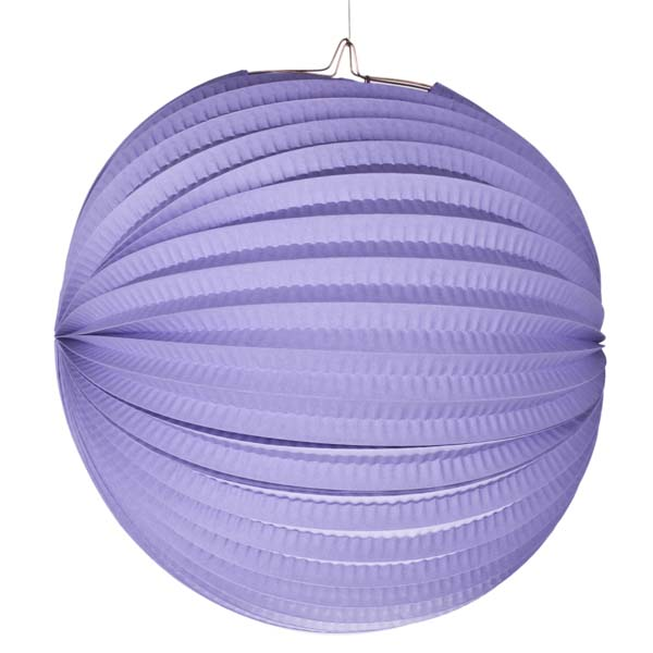 Lilac Flame Resistant Round Paper Lantern - 31cm