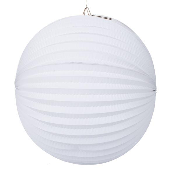 White Flame Resistant Round Paper Lantern - 31cm