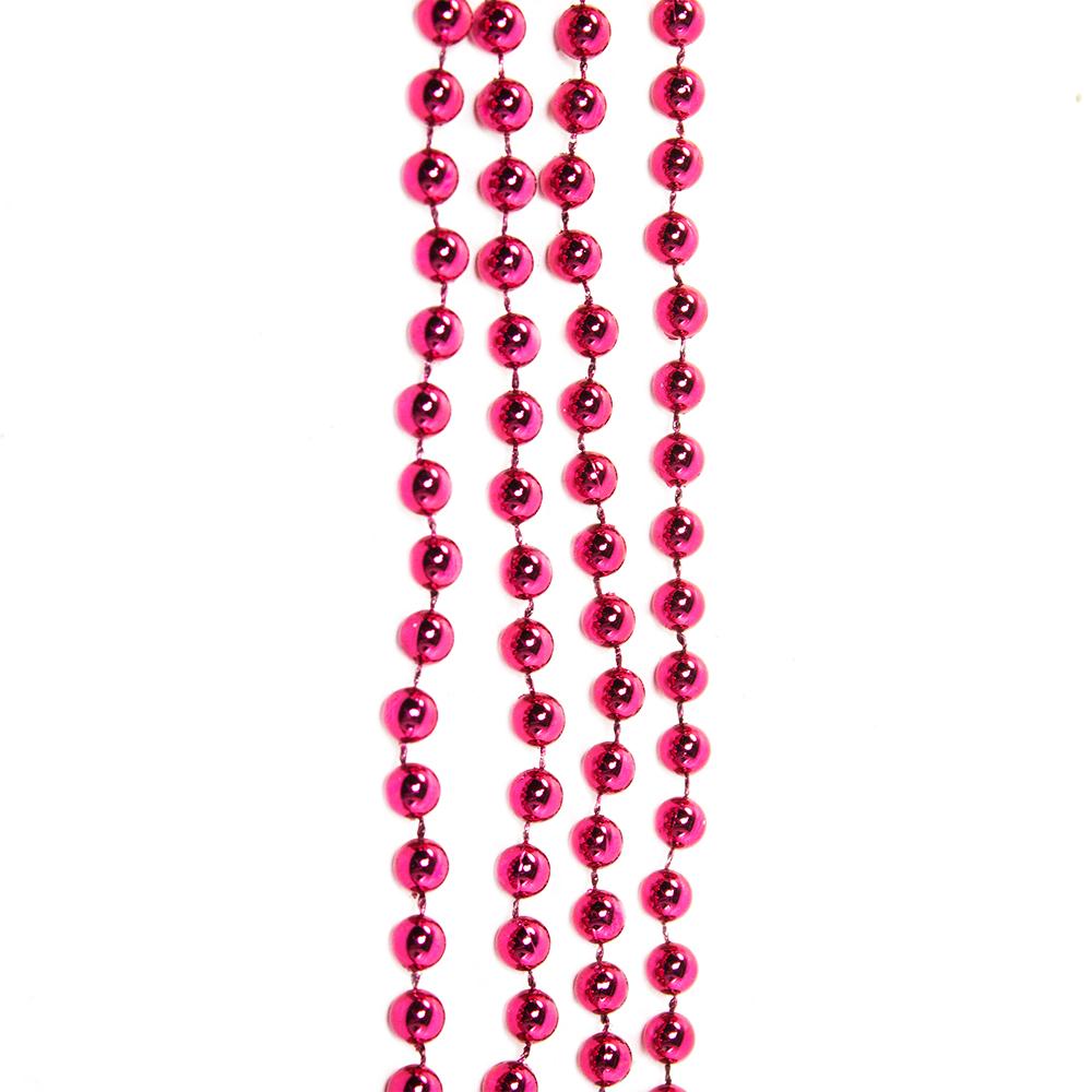Deep Magnolia Pink Bead Chain Garland - 8mm x 10m
