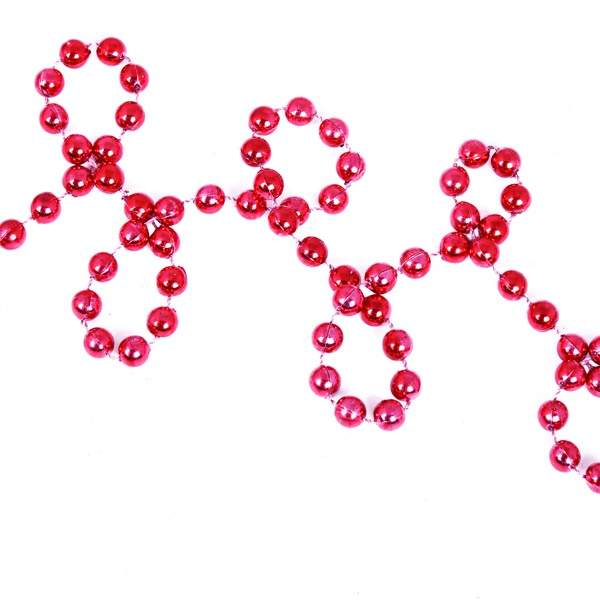 Red Bead Chain Garland - 8mm x 10m