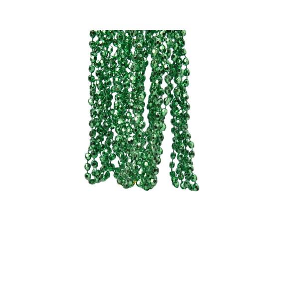 Holly Green Diamond Bead Garland - 2.7m