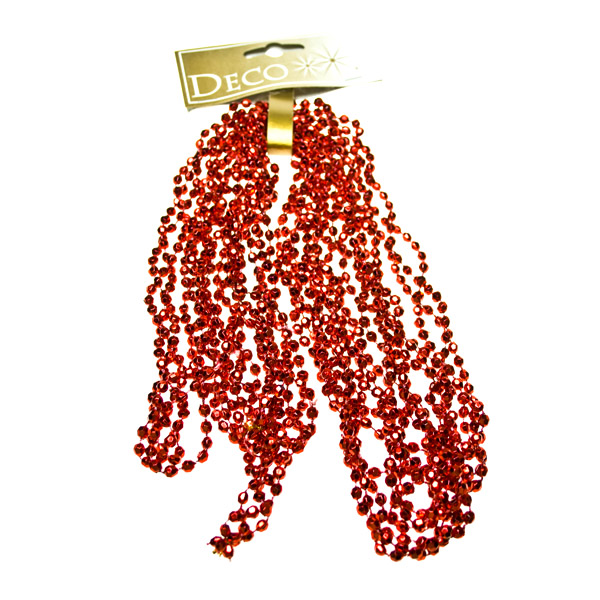 Red Diamond Bead Garland - 2.7m