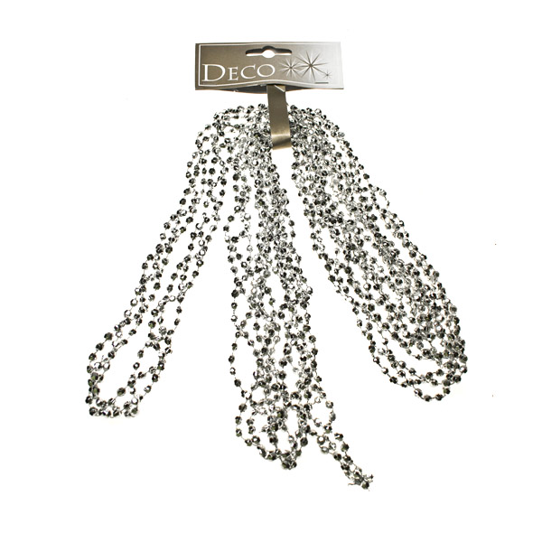 Silver Diamond Bead Garland - 2.7m