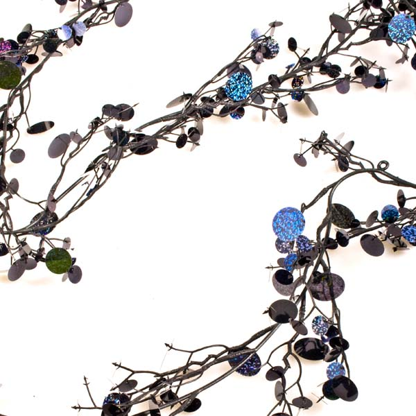 Black Laser Sequin Garland - 180cm