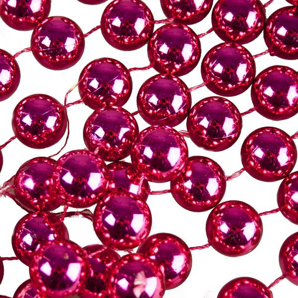Magenta Pink Bead Chain Garland - 2.7m