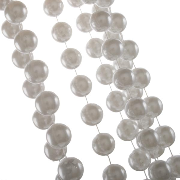 Winter White Bead Chain Garland - 2.7m