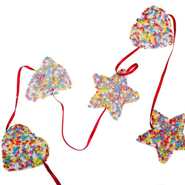 Candy Garland 100cm Christmas Time Uk