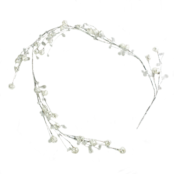Diamante Snowball Garland - 120cm