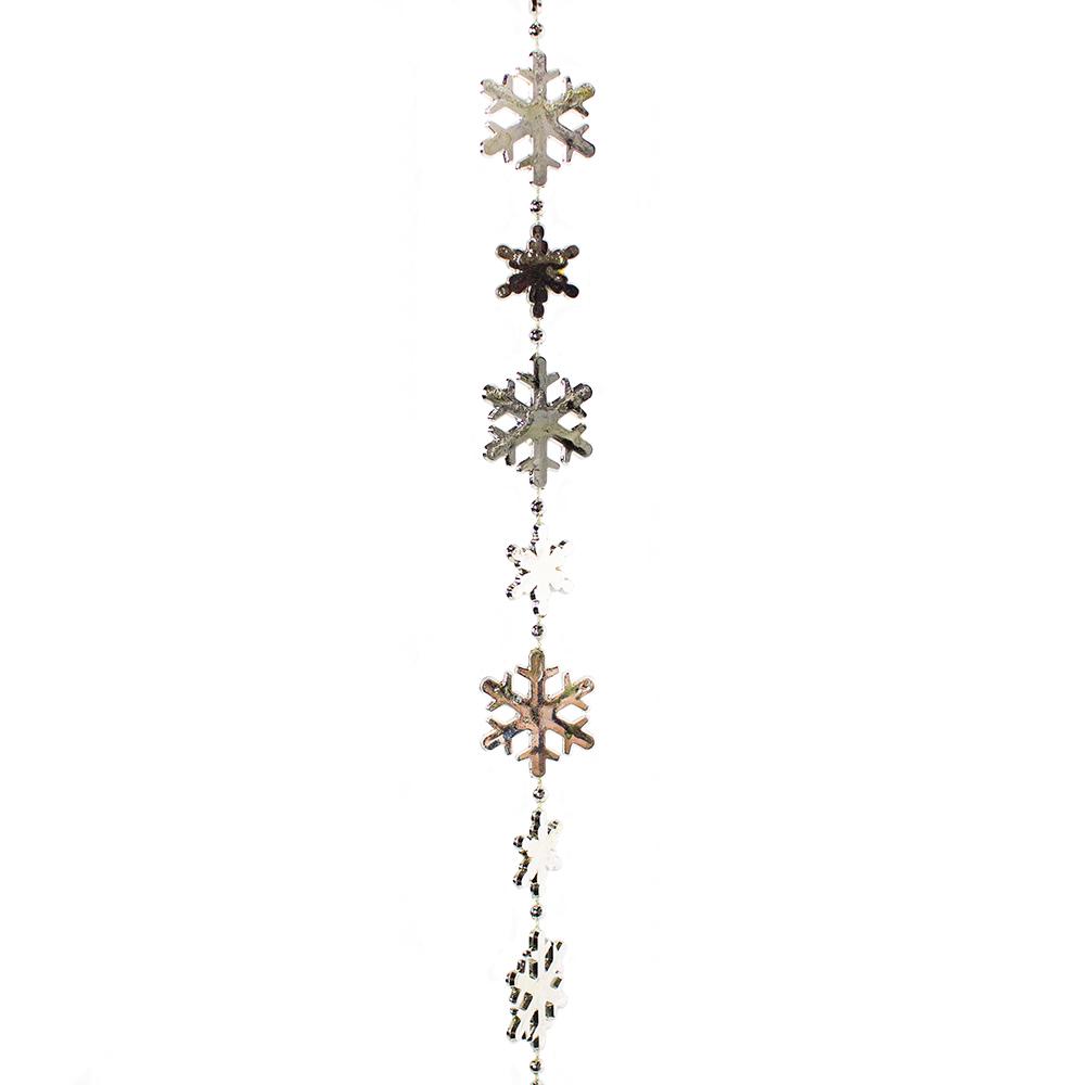 Decorative Silver Snowflake Garland - 2.7m