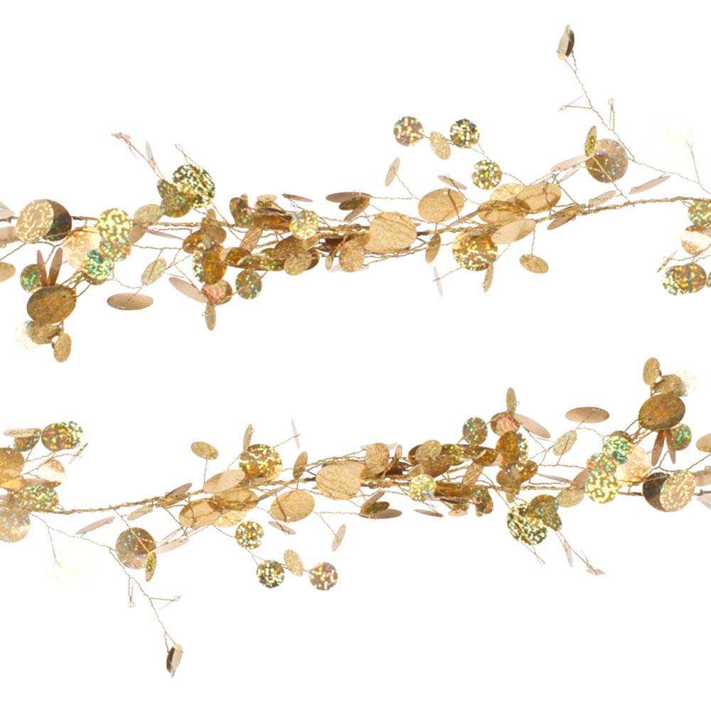 Gold Sequin Disc Garland - 1.8m