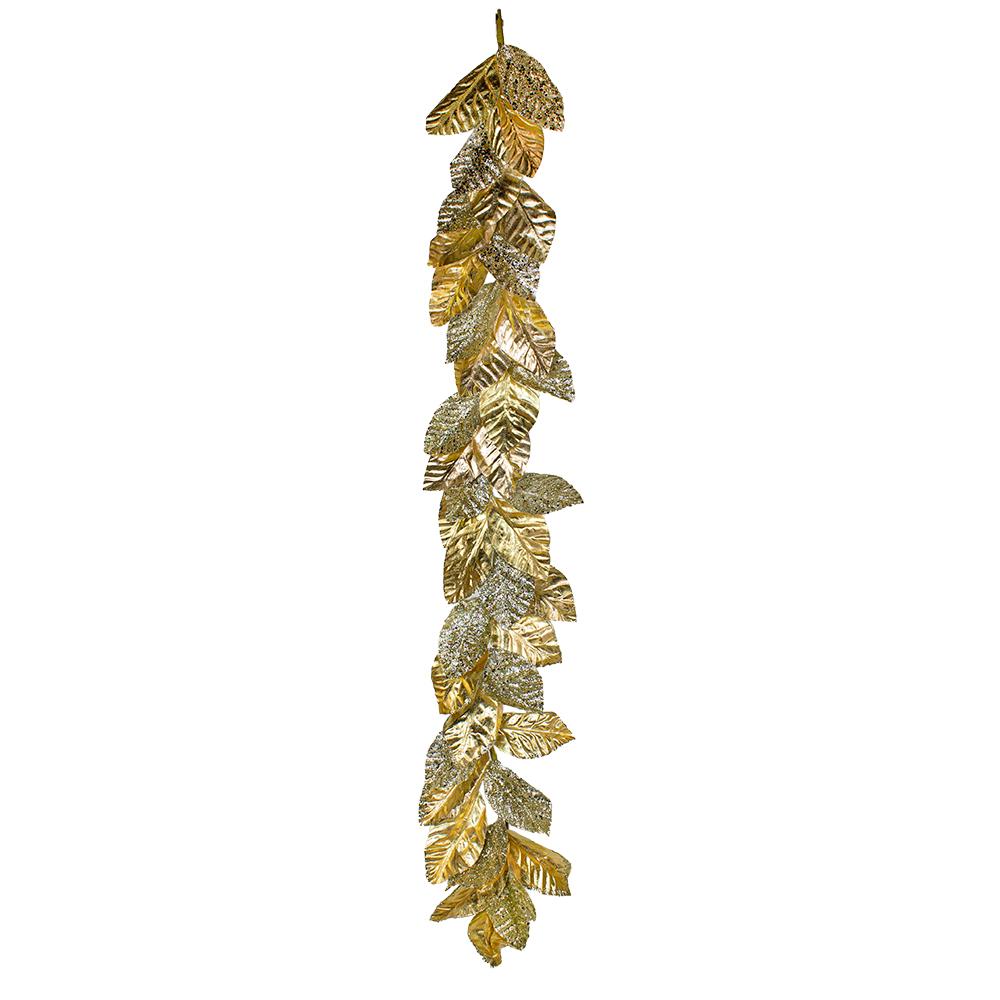 Champagne Gold Magnolia Leaf Garland - 145cm