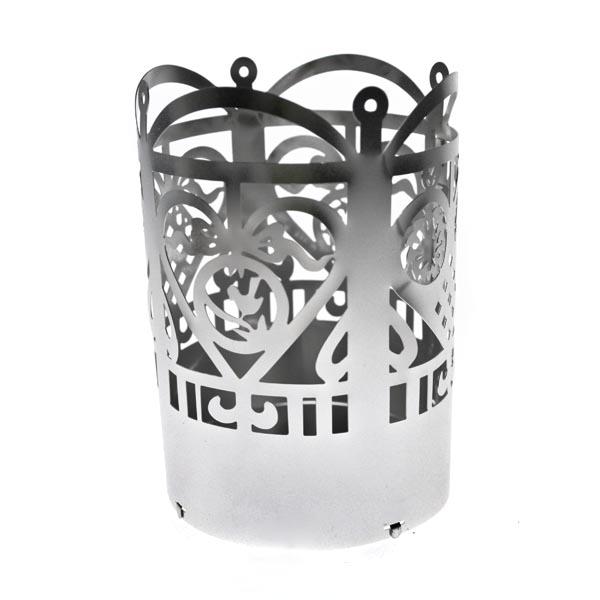 Jette Frolich Brushed Silver Metal T Light Holder