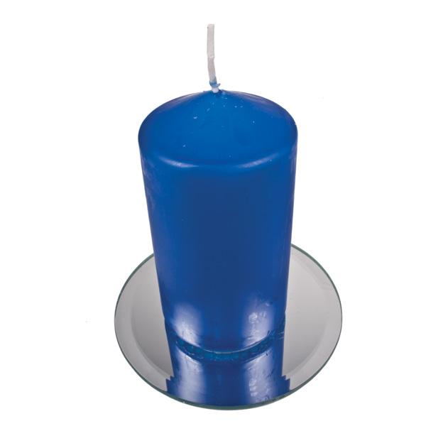 Vibrant Blue Non Drip Church Candle - 13cm x 7cm