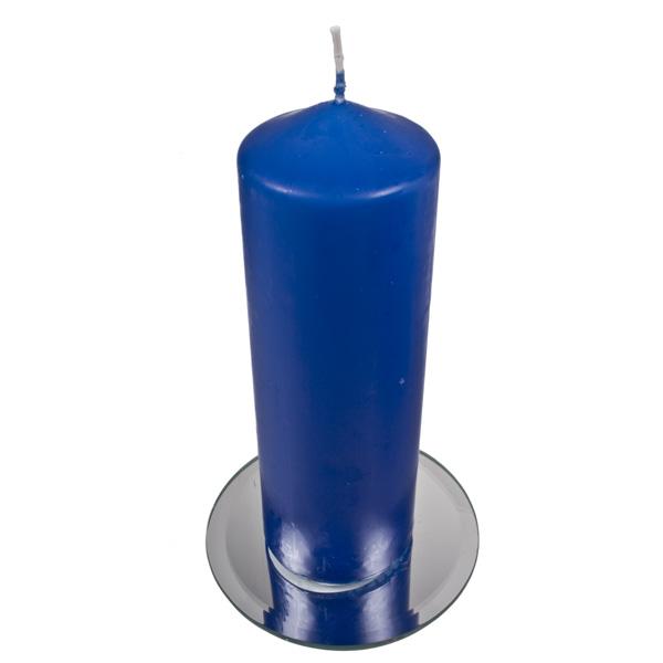 Vibrant Blue Non Drip Church Candle - 21cm x 7cm