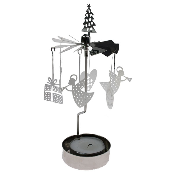 Pluto Angel & Gifts Tealight Carousel - 16cm