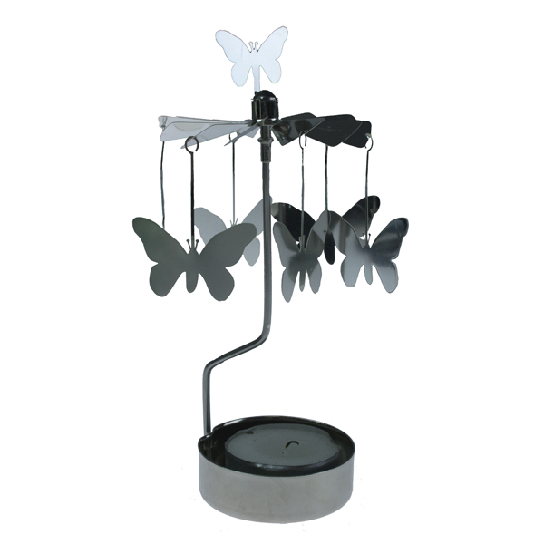 Pluto Butterfly Tealight Carousel - 16cm