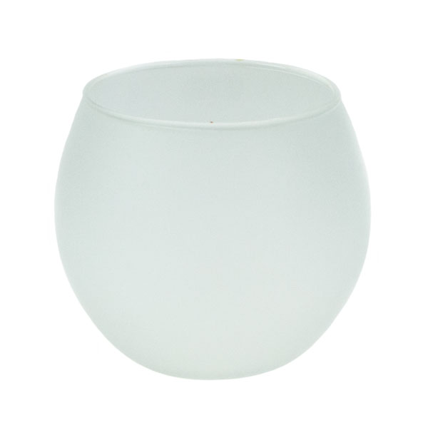 Frosty Glass Candle Holder