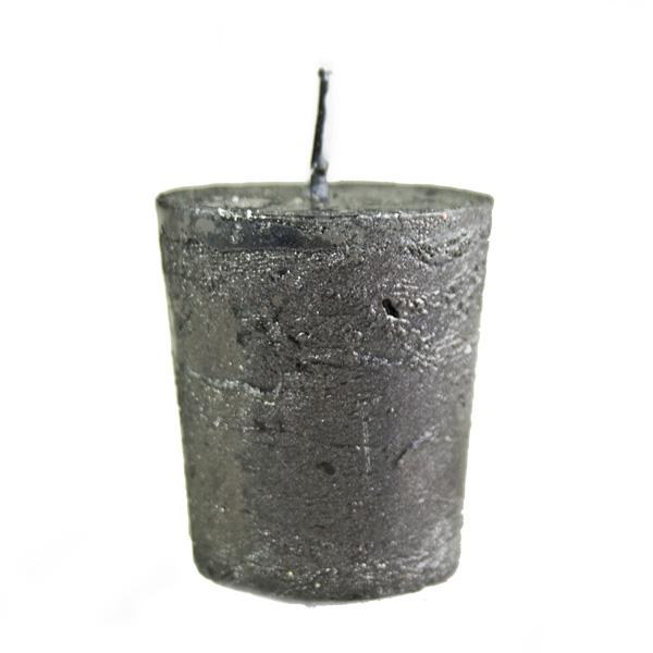 Black Metallic Votive Candle