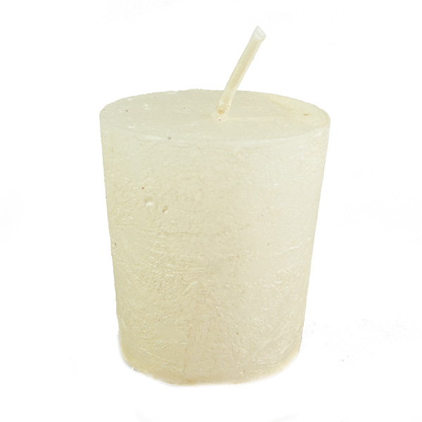 Cream Metallic Votive Candle