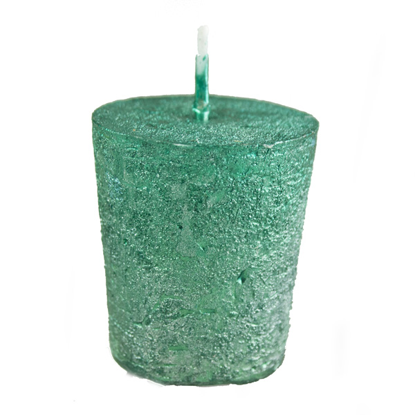 Emerald Green Metallic Votive Candle