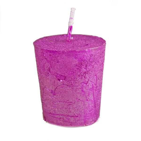 Magenta Pink Metallic Votive Candle