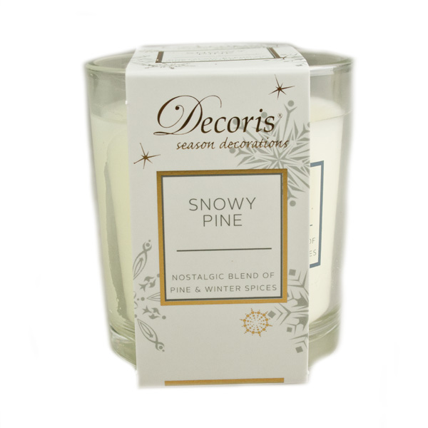 Snowy Pine Scented Wax Candle
