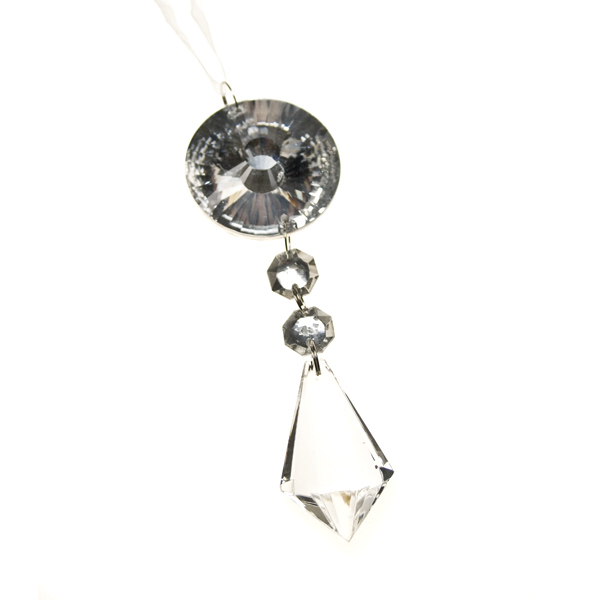 Sparkle Glass Drop Decoration - 15cm