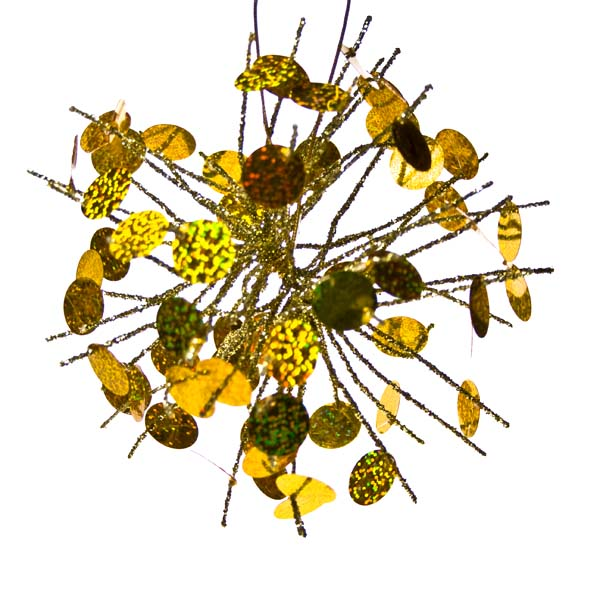 Firework Hanging Decoration With Gold Sequin Detail - 18cm