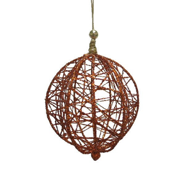 Decorative Copper Wire Mesh Hanging Ball - 13cm