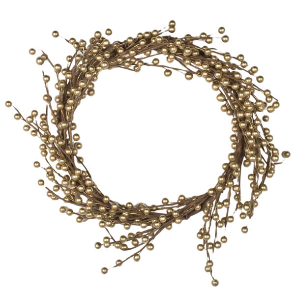 Gold Berry Wreath - 45cm