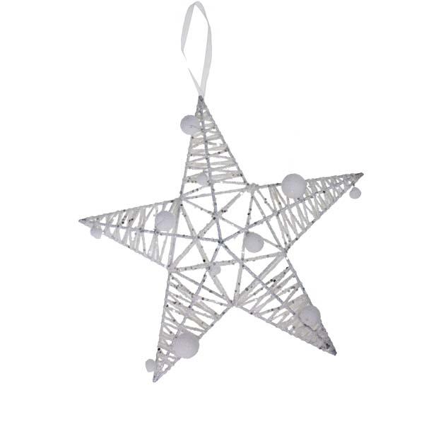 White Sparkle Star Decoration - 30cm